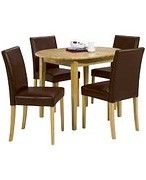 Banbury Oval Extendable Dining Table 4 Chairs - Chocolate